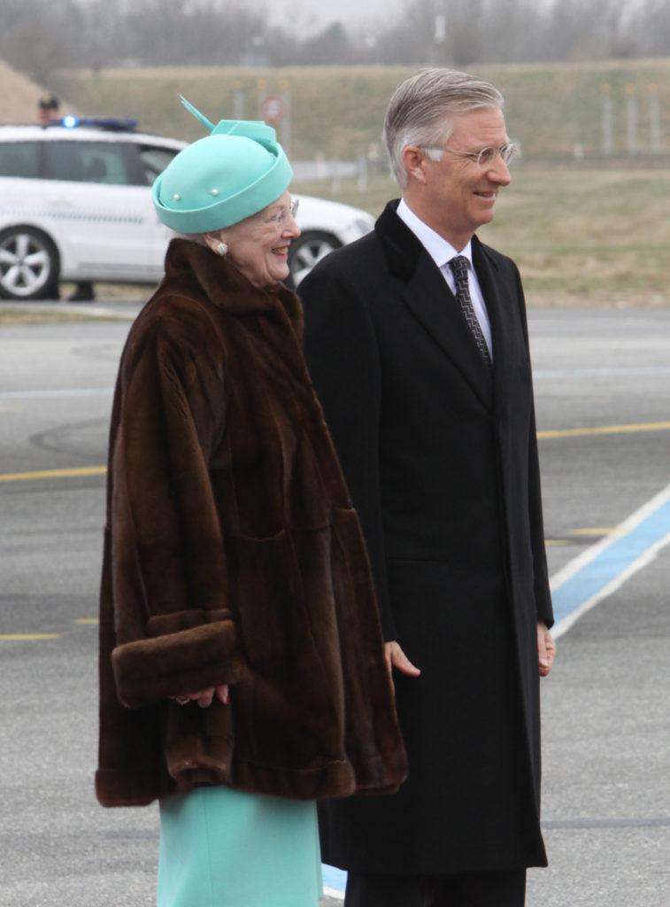 D.M. Dronning Margrethe af Danmark og Kong Philippe af Belgien